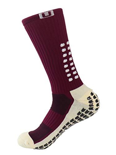 Ulalaza Unisex Sport dikker kussen bemanning sokken met rubberen stippen voor Baseball/Soccer/Futbol Shinguards