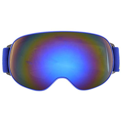 FOLOSAFENAR Gafas antivaho Marco de TPU antivaho de Tres Capas para Esquiar con una Experiencia de Uso cómoda(Blue Frame Gray Full REVO Blue Film)
