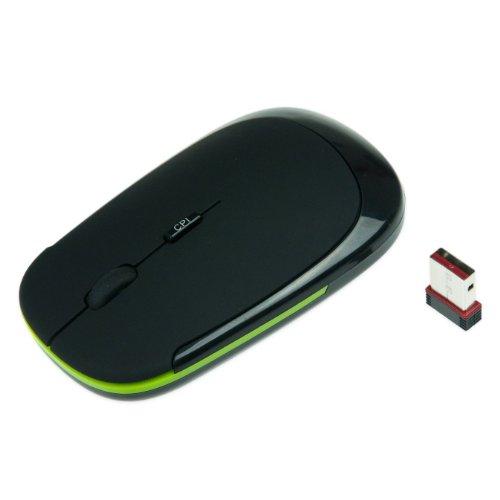 S & S Wireless Mouse Kinobo Rapoo NOTEBOOK ricevitore USB 2,4G Wireless per notebook/PC con XP/Vista/Win 7–Nero Matte superficie.