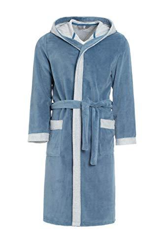 Revise RE-855 - Albornoz con capucha para hombre con fibra de bambú, albornoz para sauna