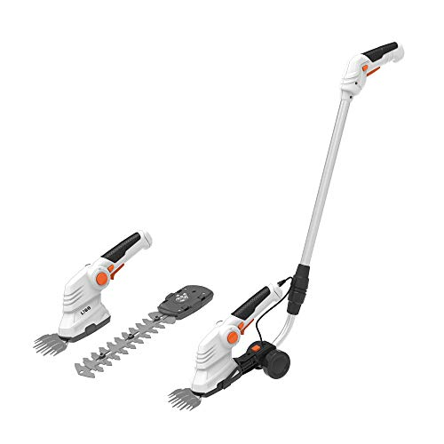LIGO 7.2V Cordless Hedge Trimmer for Gardening, 2 in 1 Lithium-ion Battery...