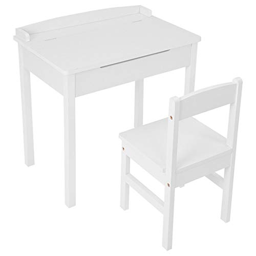 CHSHU 【Ship from USA】 Kids Table and Chair Set Children Table Furniture with Storage for Toddlers Modern and Simple Reading Learning Activity Play Table Desk Sets