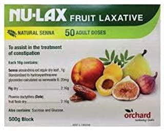 Nulax Fruit Laxative Block 500g Made From Pure Dried Fruits Made in Australia (3 Pack)