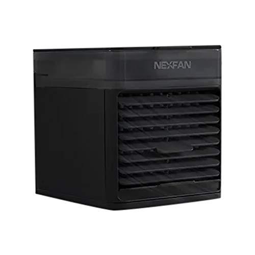 Lomelomme Climatizador portátil con nuevo ventilador, enfriador por evaporación, ultraportátil, sistema de esterilización LED UV esterilizador con aromaterapia purificadora, Negro , Talla única