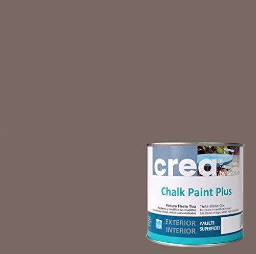 Pintura a la Tiza – Chalk Paint – Pinturas para decoración, restauración de muebles, madera – Pintura efecto Tiza (500ml) (Marron Chocolate)