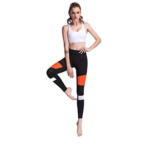 Qiuday Jogginghose mit Seitenstreifen Damen Laufhose Sporthose Sport Leggings Tights Fitness-Hose Lang Jogginghose mit Quick-Dry-Funktion...