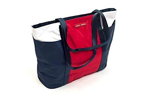 Tommy Hilfiger Nylon Colorblock Tote Bag