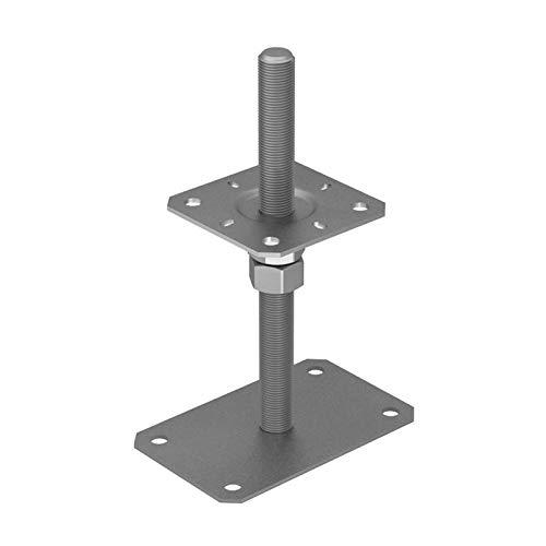 GRUNDLINE - Base de poste - roscado ajustable - PSRP - M20 100x160x250
