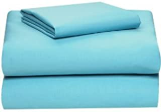 Twin Extra Long 100% Cotton jersey Sheet Set - Soft and Comfy - By Crescent Bedding  Aqua Blue Twin XL