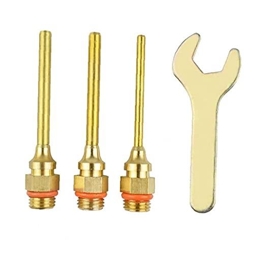 Pegamento Boquilla Surtido Conjunto de cobre de la boquilla con la llave inglesa Kit de repuesto para herramientas eléctricas de calor 4PCS, Accesorios para herramientas eléctricas