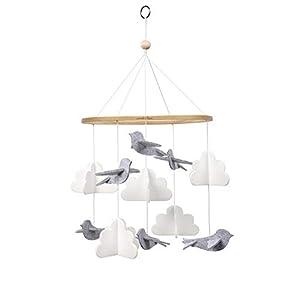 Sorrel + Fern Baby Crib Mobile Birds in The Clouds Nursery Decoration (Short Version)
