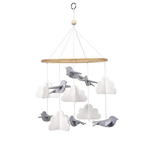 Sorrel + Fern Baby Crib Mobile Birds in The Clouds Nursery Decoration