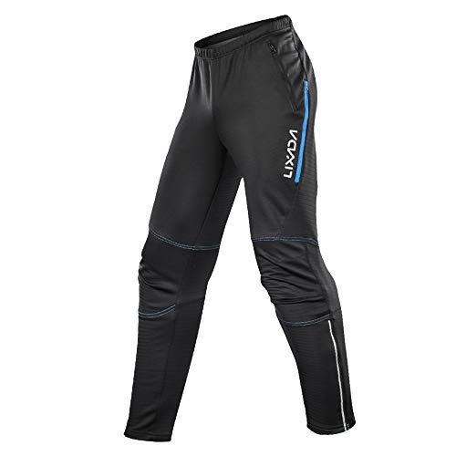 Roeam Men's Waterproof Cycling Pants Thermal Fleece Windproof Winter Bike...