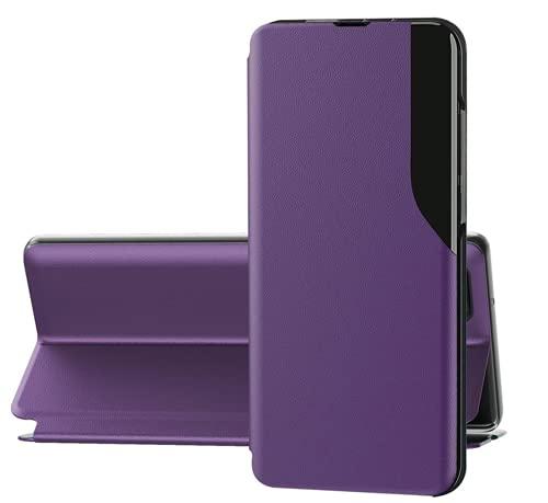 Jancyu Compatible con Samsung Galaxy S10 Funda Galaxy S10 Plus Smart Protección Manguera Sleep Teléfono Móvil Plegable Funda de Cuero (Lila Galaxy S10 Plus)