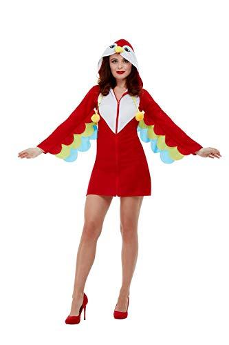 Smiffys 47773L Papegaai Kostuum, Vrouwen, Rood