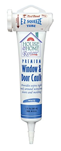 Red Devil 0848 House & Home Restore Premium Window & Door Caulk EZ Squeeze Tube, 5 Fl. Oz, 1-Pack, White