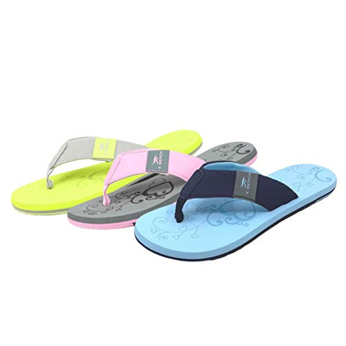 RENNER XXL Damen Flip-Flop Bade-Schuhe Zehentrenner Badepantoletten, Gelb, 39