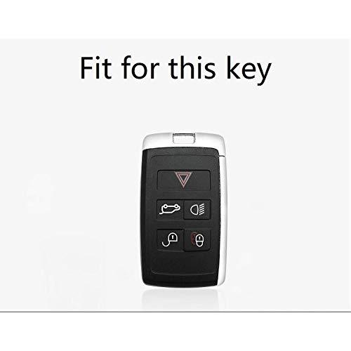 MISDH Coque de Protection pour Porte-clés en Alliage d'aluminium TPU, pour Land Rover Range Rover Evoque Discovery Sport 5 2018 2019 2020