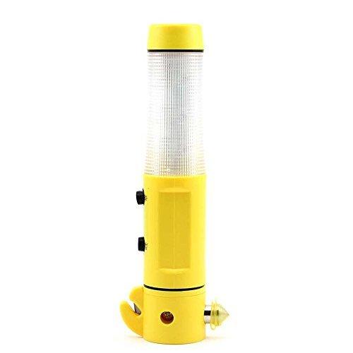 4in1Multifunktions LED Taschenlampe Taschenlampe Sicherheit Auto Notfall Escape Hammer Gurtschneider