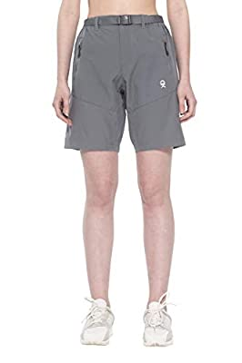 Little Donkey Andy Women's Stretch Quick Dry Cargo Shorts for Hiking, Camping, Travel Steel Gray Size L