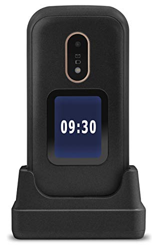 Doro 6060 - GSM Mobiltelefon im eleganten Klappdesign (3 MP Kamera, 2,8 Zoll (7,11cm) Display, GPS, Bluetooth) schwarz