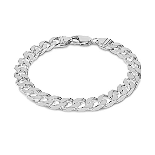 Tuscany Silver Men's Sterling Silver 8mm Curb Bracelet of 20cm/8'