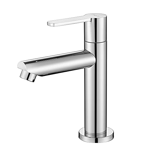 ONECE Kaltwasser Armatur Messing Kaltwasserhahn Gäste WC Wasserhahn Standventil Kaltwasserarmatur Badarmaturen mit Anschlussschlauch