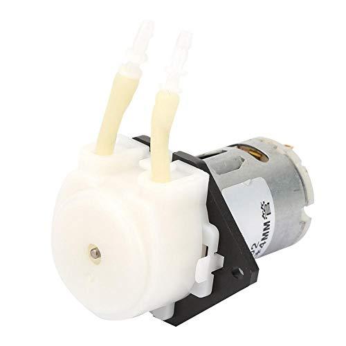 D-2 DC 6V Peristaltische Flüssigkeitspumpe Selbstansaugende Laborpumpe mit konstantem Durchfluss 2 * 4 mm(White)
