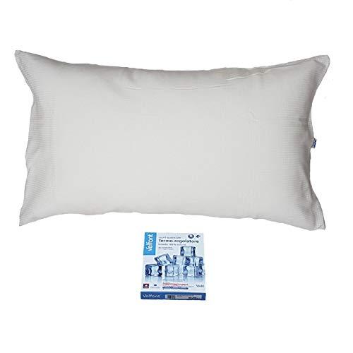 Velfont Funda de almohada termorreguladora de tejido Outlast de 100% algodón con cremallera