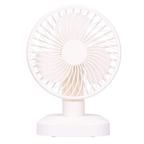 Ventilador de Escritorio USB, Ventilador de circulación de Aire Recargable de 3 velocidades tamaño Compacto súper silencioso Ajuste de 180 ° a la Izquierda y Derecha/Ajuste de 90 ° hacia Arriba y