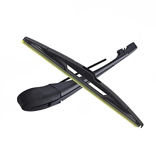 ZHAIxin Limpiaparabrisas de ventana trasera, juego de escobillas y brazos de limpiaparabrisas traseros de 14', para Citroen Jumpy 2007-2015
