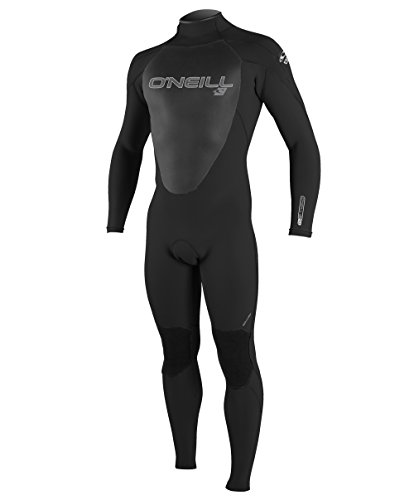 O'Neill Men's Epic 4/3mm Back Zip Full Wetsuit,Black/Black/Black,Large Tall