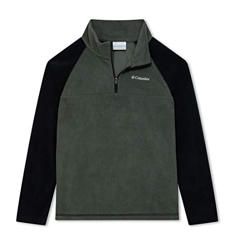 Columbia Jungen Glacial Fleece-pullover Mit Halbem Reißverschluss, Grau/Schwarz (Grill, Black), M