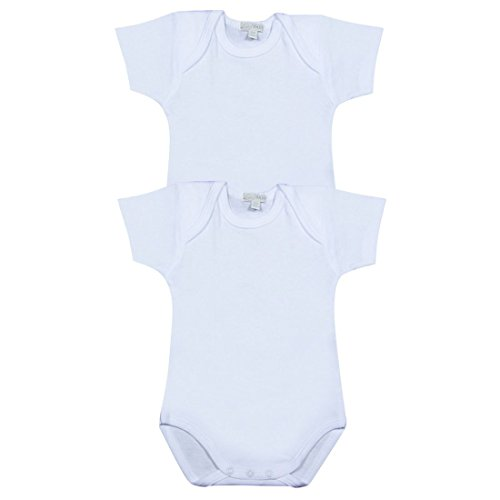 Liabel Confezione da 3 Body Neonato/A Mezza Manica Baby in Cotone Felpato Art. 02828C T407 - Disponibile nel Colore Bianco (30 CM 98, Bianco)
