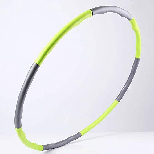 WMYATING Hula Hoop Adulto, Adecuado para el Entrenamiento de Fitness/Formación Abdominal, Entrenamiento Ideal para el fortalecimiento Abdominal y los músculos Traseros en el hogar, Oficina, Gimnasio.