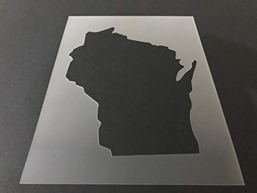 Wisconsin #1 Stencil Reusable 10 mil Thick 8in x 10.5in sheet