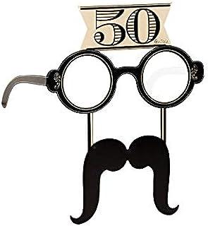 Occhiali Birra Cinquantanni Gadget scherzoso per Il Cinquantesimo Compleanno Occhiali Party 50 Anni
