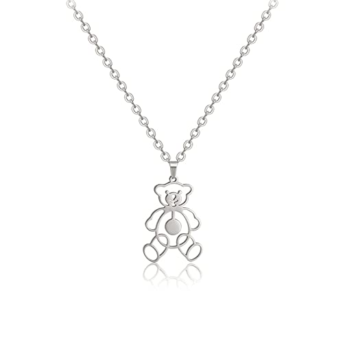 Necklace,Women Necklace Hip Hop Long Chain Personality Pendant Temperament Sweater Chain Friend Gift (Silver)