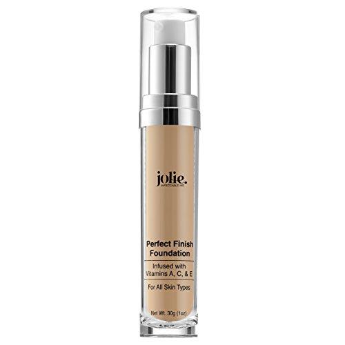 Jolie Perfect Finish Liquid Foundation Makeup SPF 15 Oil Free (LW1)