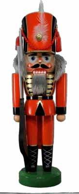 Nussknacker Soldat rot 36cm NEU Nußknacker Holz Figur Erzgebirge