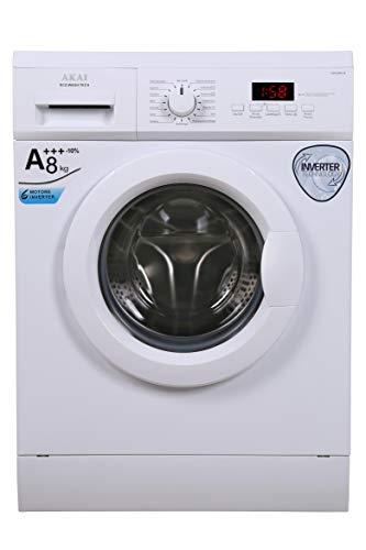AKAI Machine à laver AQUA88K-M Charge avant Inverter 8.0 kg A++ 1400 tours.