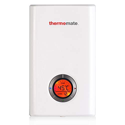 Thermomate ELEX12 Elektronischer Durchlauferhitzer Geregelter, 12kW, Electronic LCD