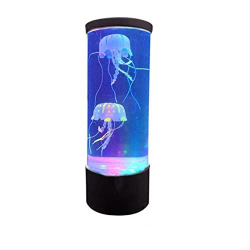 KJDPP Luz Nocturna Infantil Simulación lámpara de Medusa Grande USB Cambio de Color Colorido Plug-in luz Nocturna luz de atmósfera LED,Medium