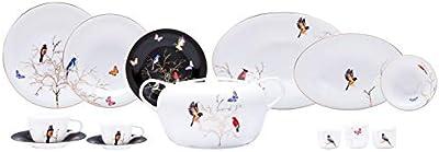 Amazon.com: Homray Opulence - Vajilla para microondas (48 ...