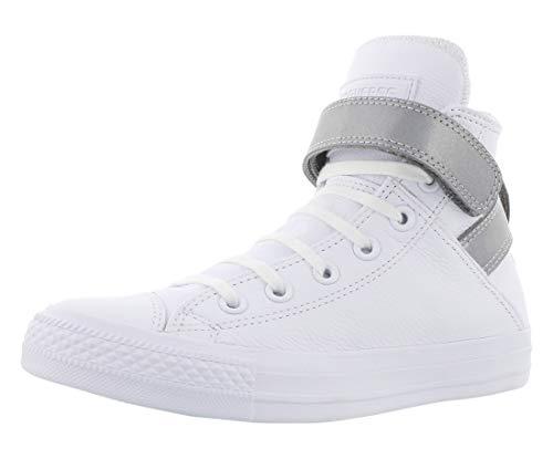 Converse Zapatillas Chuck Taylor All Star Brea para mujer, (Blanco/Plateado), 36 EU