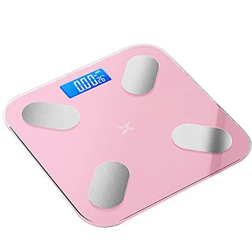 Smart BMI Báscula de pesaje con Bluetooth Multifuncional Digital Grasa Corporal Escala Larga Duración APP Fitness Salud Escala