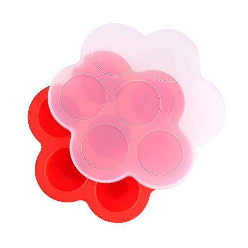 Souarts siliconen babyvoeding bewaardoos 7 vakken met siliconen deksel van alle soorten babyvoeding gedempt ei
