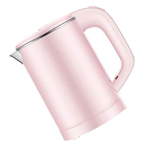 ZMING Hervidor eléctrico doméstico, Botella de Agua portátil, Oficina de Estudiantes, Acero Inoxidable 304 pequeño, 0.6L, 600W, Rosa, Blanco y Negro (Color : Pink)