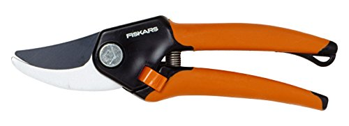 Fiskars 111170 Sécateur bi-matière ergo-plus - ø 18 mm à lame franche, Noir