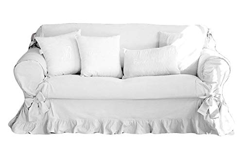Blanc Mariclo COPRI DIVANO Shabby Chic 2 POSTI Colore Bianco